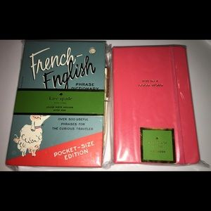 Kate Spade French-English Phrase and Notebook